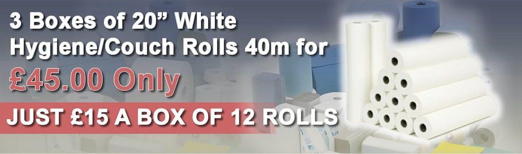 White Hygiene/Couch Rolls