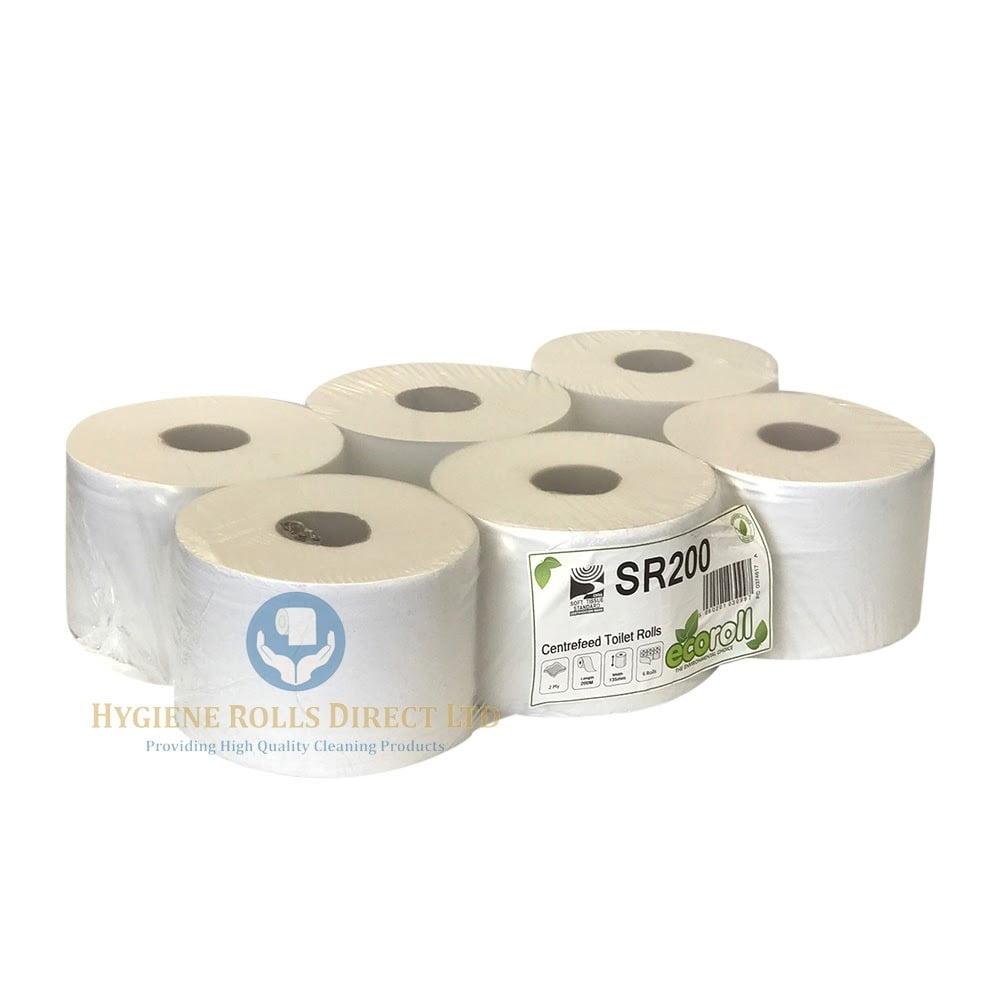 2ply Centre Pull Toilet Roll White 200m - SMART ROLL - Hygiene Rolls ...