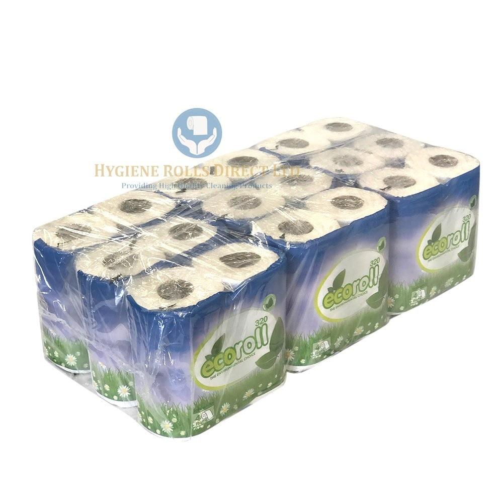 Toilet Roll 320 Sheet - 2ply - 9 x 4 Pack - 36 Rolls - Hygiene Rolls ...