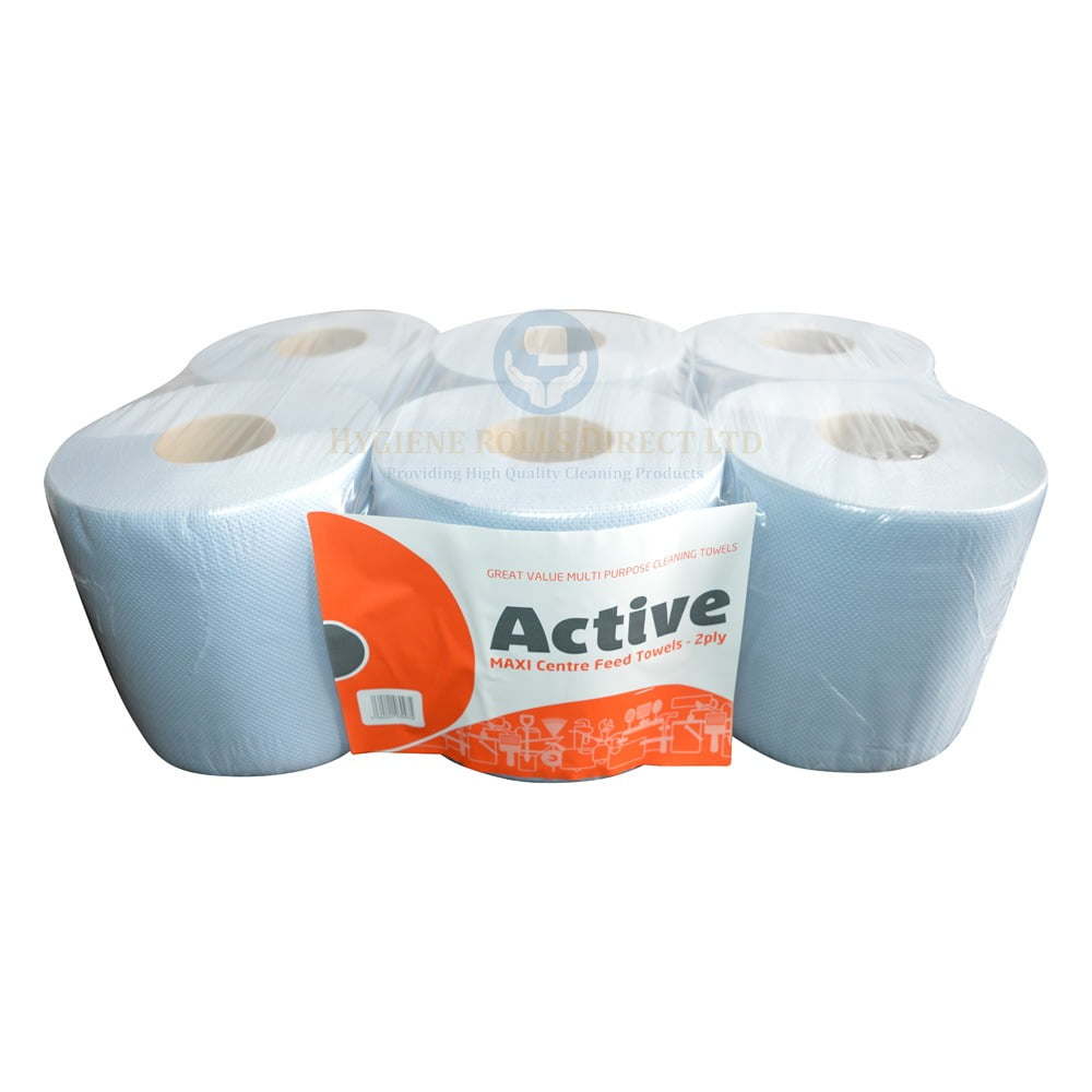 2ply Blue Centrefeed Embossed Towels – 6 Rolls - 43M - VALUE RANGE ...