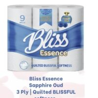 BLISS ESSENCE 3PLY TOILET ROLLS OUD